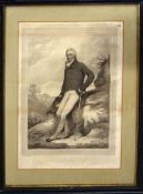 "After H Edridge, engraved by H Meyer, ""Alexander Adair Esq"", antique black and white engraving, 42 x"