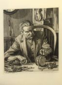 "William Washington, RBA, ARCA, ARE (1885-1956),""Clocks to mend"", black and white etching, signed"