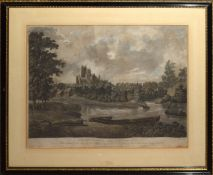 "After Parkyns, engraved by D Havell, ""The Cathedral and City of Ely"", hand coloured aquatint,"