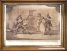 "After H Bunbury, engraved by C Knight, ""As you like it"" and ""The Dual between Sir Andrew Ague"