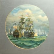 Battle of Cape St Vincent, February 14th 1797 between Lord Nelson and Spanish Admiral, Victorian