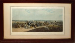 "After C Henderson, engraved by E Duncan, ""Returning from Ascot Races"", hand coloured engraving,"