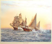 "AR Montague Dawson (1895-1973) ""The Corsair"", coloured print, signed in pencil to lower right"