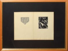"""Paul Nash (1889-1946) """"Genesis"""", wood engraved page for Genesis by Paul Nash, Nonsuch Press,"""