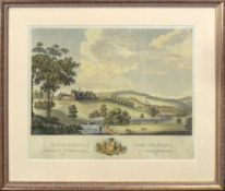 "After William Hall, engraved by James Kerr, ""Alnwick Castle from the East"", hand coloured engraving,"