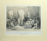 "After Stephanoff, engraved by L Haighe, ""A Nautch in the Palace of the Ameer of Sind"", sepia"