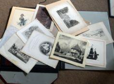 Large folder of assorted modern prints