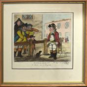 "After Bunbury, ""Newmarket - a shot at a pigeon"", hand coloured etching, published by Bretherton,"