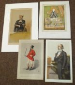 Packet of four prints after Spy etc (4)