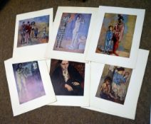 Packet of 14 coloured book plates after Picasso, all unframed (14)