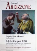 Folder of assorted exhibition posters for Edward Ardizzone, Imperial War Museum 1980 and Elizabeth