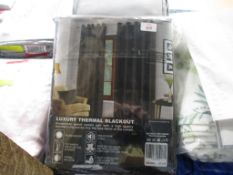 Curtains & Drapes Valery Eyelet Blackout Thermal Curtains, Colour: Brown, Panel Size: Width 85cm x
