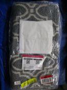Marlow Home Co. Durable 100% Recycled Cotton Rug Woven Flatweave Trellis Diamond Grey Graphite Cream