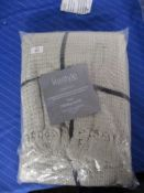 Norden Home Gilbert Honeycomb Throw, Size: W178 x L254cm, Colour: Ivory, RRP £15.99