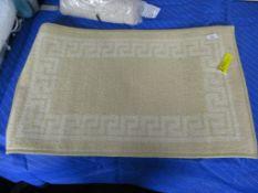 17 Stories Rampzipoor Anti-Slip Mat, Colour: Dark Beige, Mat Size: Rectangle 50 x 80cm, RRP £10.99
