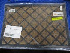Brambly Cottage Robertson Coir Grid Design Doormat, , RRP £12.99