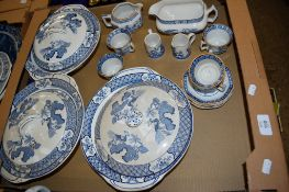 CERAMIC ITEMS INCLUDING THREE TUREENS AND COVERS AND SERIES OF CUPS AND SAUCERS MADE BY WOODS