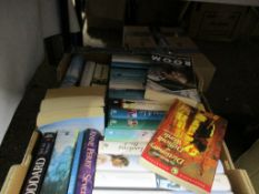 BOX OF BOOKS, INCLUDING NOVELS BY JOANNA TROLLOPE