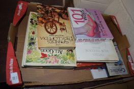 BOX CONTAINING MIXED BOOKS, MAINLY SEWING AND EMBROIDERY INTEREST