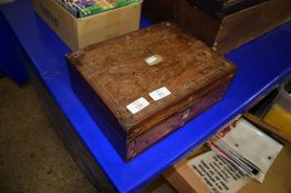 SMALL WOODEN WRITING SLOPE WITH COMPARTMENTS