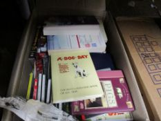 BOX OF MIXED BOOKS AND CDS INCLUDING BOOK OF PICTURES BY CECIL ALDIN