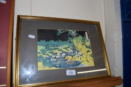 ORIENTAL COLOURED LITHOGRAPH