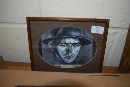 "PICTURE OF A WWI SOLDIER ""A FAMOUS RAIDER LANCASHIRE FUSILIERS KENNINGTON CIRCA 1915"""