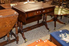 REPRODUCTION MAHOGANY SOFA TABLE, 94CM WIDE