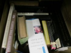 BOX OF MIXED BOOKS, SOME GARDENING INTEREST