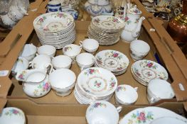 EXTENSIVE QUANTITY OF TEA WARES BY ROYAL GRAFTON INCLUDING BOWLS, SIDE PLATES, CUPS AND SAUCERS