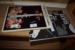 BEATLES MUSIC BOOK AND ELVIS MUSIC BOOK