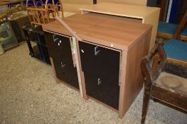PAIR OF MODERN FILING CABINETS, 44CM WIDE