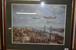 PRINT OF SPITFIRES OVER LONDON
