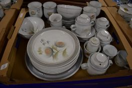 DINNER WARES BY DENBY WITH A FLORAL DESIGN