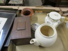 POTTERY AND WOODEN ITEMS