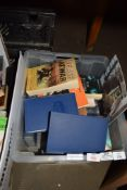 BOX CONTAINING BOOKS, PAPERBACK AND HARDBACK INCLUDING COLLECTION OF DICKENS' NOVELS
