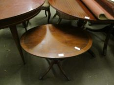 REPRODUCTION OVAL PEDESTAL TABLE, 67CM WIDE
