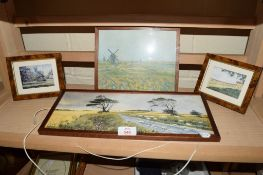 PICTURES OF RURAL SCENES IN WOODEN FRAMES