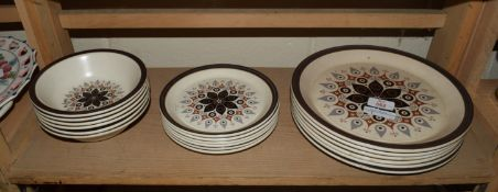DINNER WARES INCLUDING PLATES, SIDE PLATES AND BOWLS