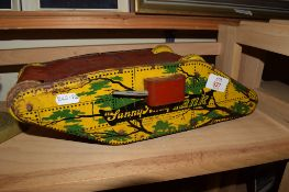 "TIN PLATE MODEL OF A WWI TANK ""SUNNY ANDY"" TANK, MADE BY WOLVERINE SUPPLY AND MANUFACTURING,"