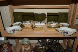 GROUP OF ROYAL WORCESTER WARES INCLUDING PIN DISHES AND BOXES IN THE ARDEN PATTERN