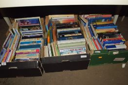THREE BOXES OF BOOKS, MAINLY PAPERBACKS, VARIOUS TITLES