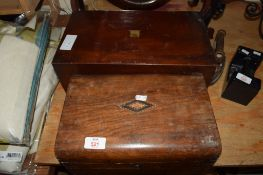VICTORIAN MAHOGANY WRITING BOX PLUS ONE FURTHER