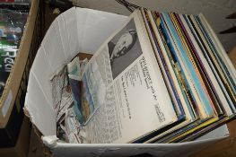 BOX CONTAINING QUANTITY OF RECORDS