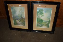 PAIR OF 20TH CENTURY COLOURED PRINTS