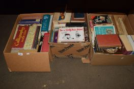 BOX CONTAINING MIXED BOOKS INCLUDING OXFORD COMPANION BOOK OF ENGLISH LITERATURE ETC