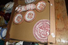 QUANTITY OF DINNER AND TEA WARES INCLUDING CUPS AND SAUCERS BY HEATHCOTE CHINA