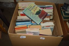TWO BOXES OF VARIOUS HARDBACK AND PAPERBACK BOOKS