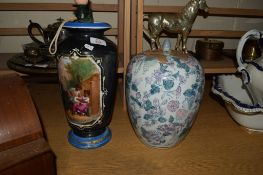 ORIENTAL VASE WITH A DECORATION OF CHILDREN