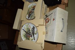 BOX CONTAINING COLLECTION PLATES, MAINLY WILD LIFE INTEREST